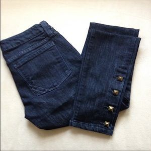Anlo Dark wash Studded Ankle Low-rise Jeans 25